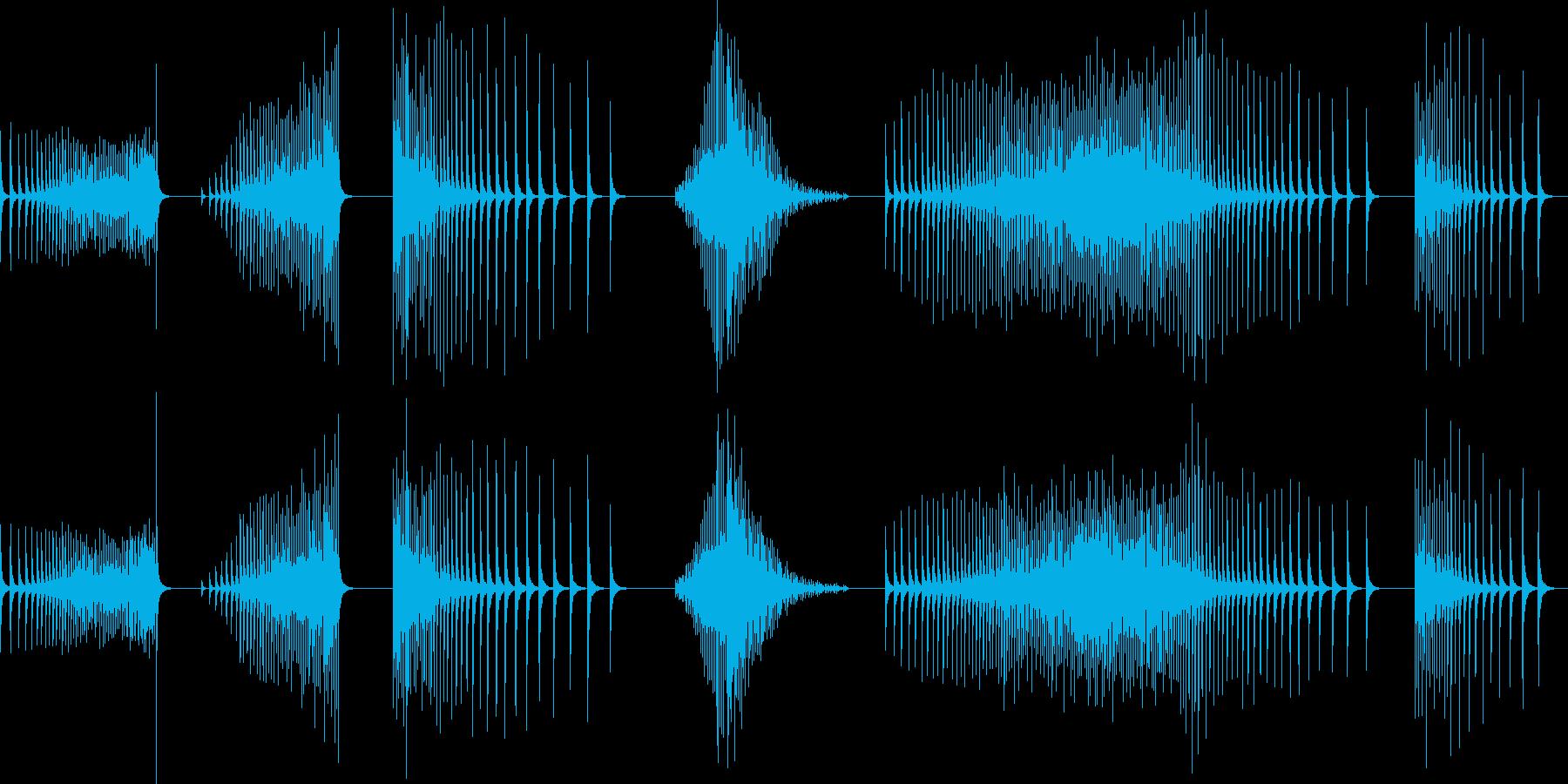 ドラム、スネア、ロール、ブザーなし...の再生済みの波形