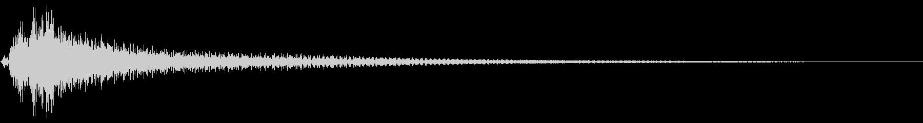 ワイルド かき鳴らし ナイロンギターの未再生の波形