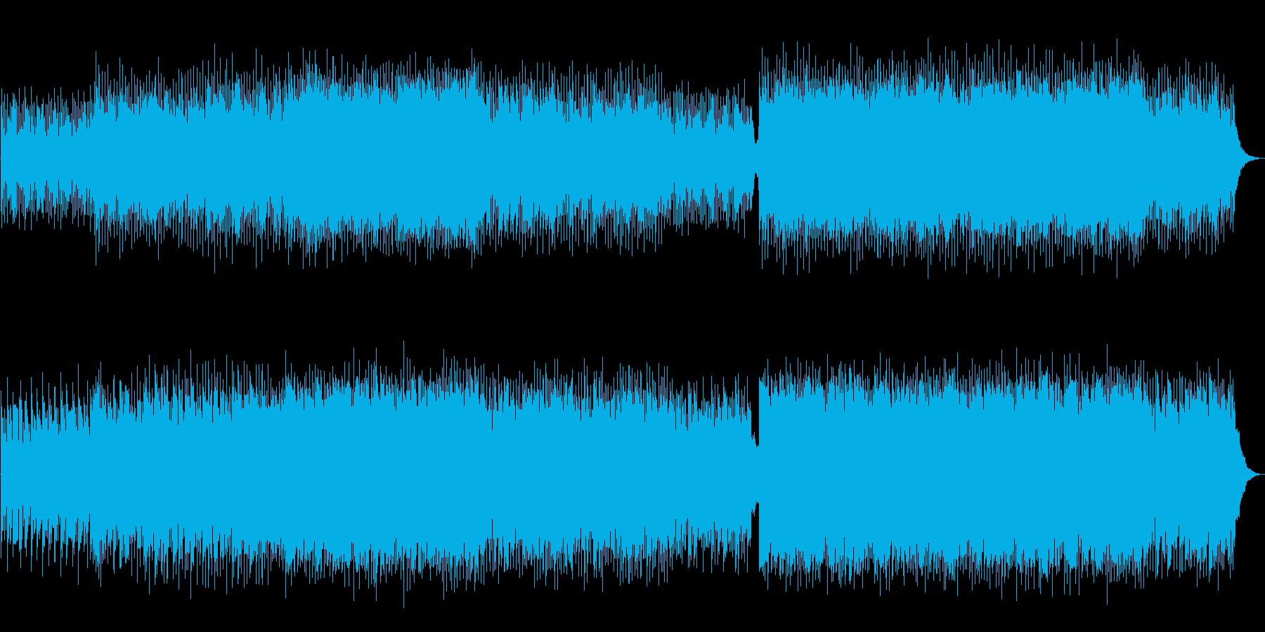 爽やかで瑞々しい生演奏ギター曲の再生済みの波形
