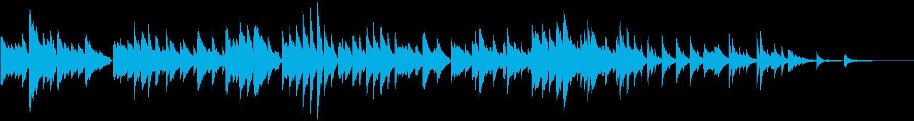 ゆったりしたピアノBGMの再生済みの波形