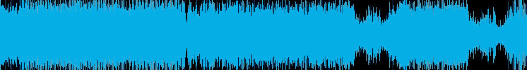 スピード感あるノリノリなメロディーの再生済みの波形