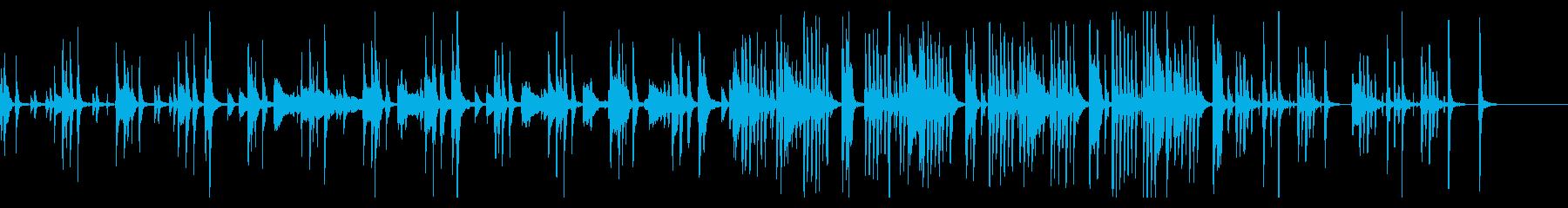 ゆったりしつつ間の抜けたおふざけBGMの再生済みの波形
