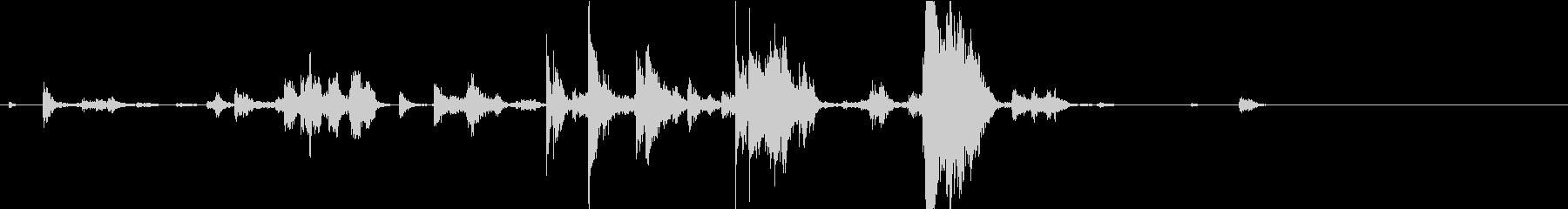 【生録音】手錠の音 5 手に持つ 準備の未再生の波形