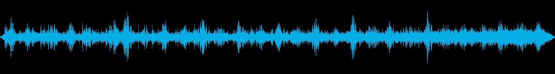 渋谷の街の音の再生済みの波形