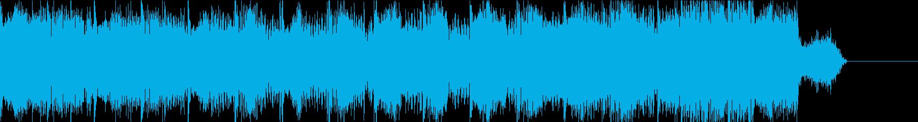 カッコイイUKハードコアテクノのジングルの再生済みの波形