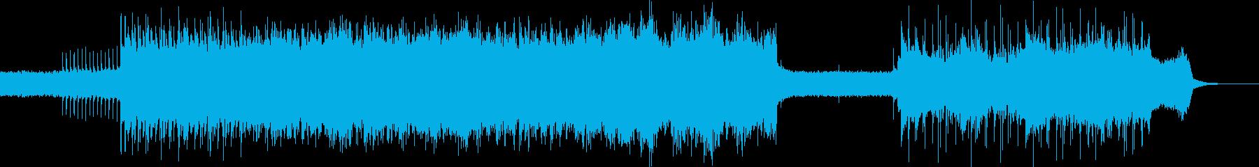 激しめのギターサウンドの再生済みの波形
