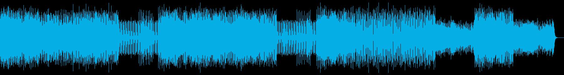悲壮感のあるテクノポップBGMの再生済みの波形
