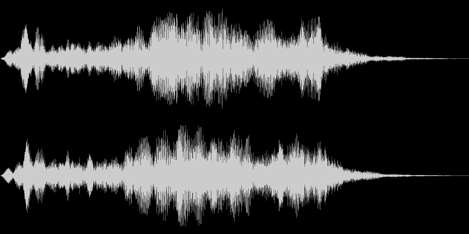 ヒューーン↑(ロケットの通過音)の未再生の波形