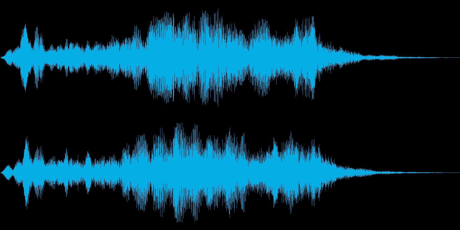 ヒューーン↑(ロケットの通過音)の再生済みの波形