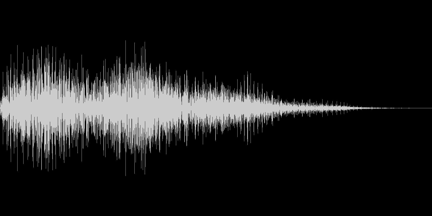 びっくり箱などのモワモワ音の未再生の波形