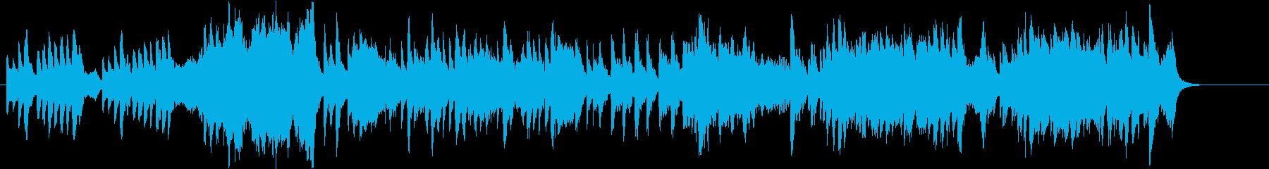 ゆったりと壮大な、琴が中心の和風曲の再生済みの波形