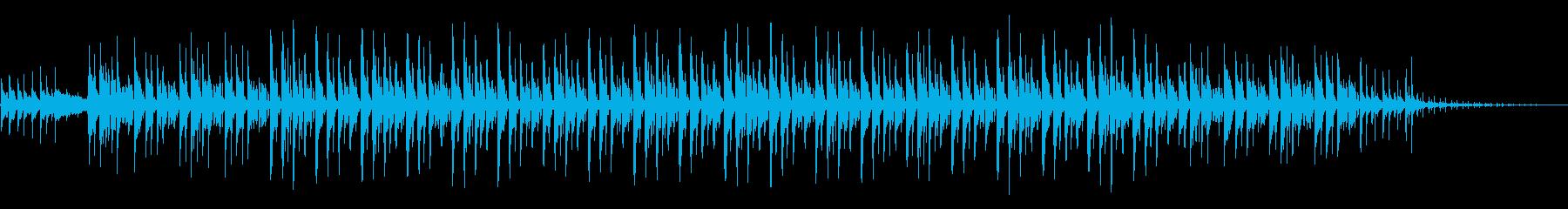 涼しげな和風の三味線テクノの再生済みの波形