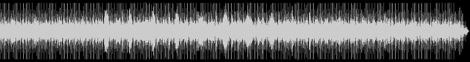 少しゆったりめなビートのテクノの未再生の波形