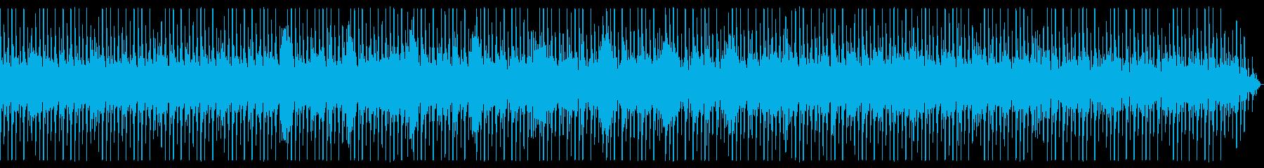 少しゆったりめなビートのテクノの再生済みの波形