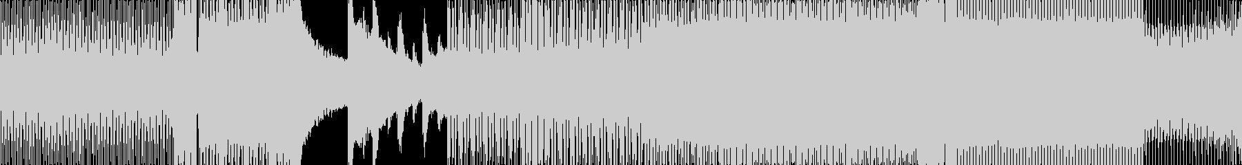 レーザー音多用のEDMの未再生の波形