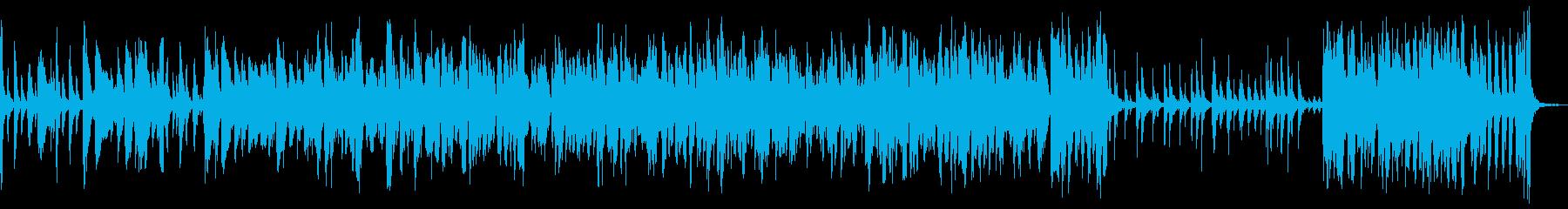 明るく快適なアコースティックジャズの再生済みの波形