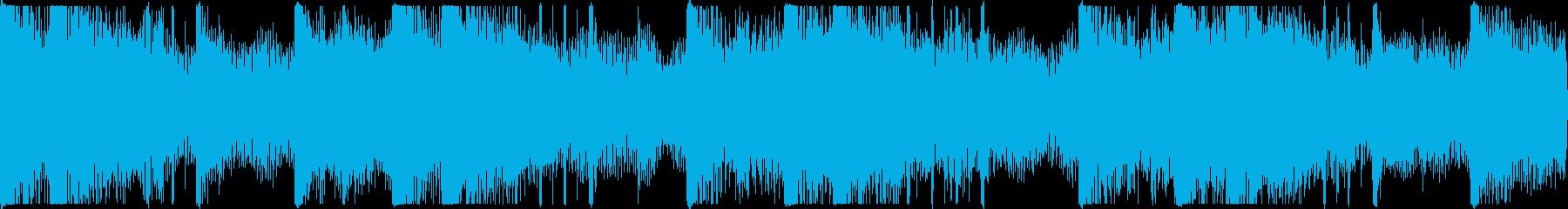 迫力のあるサスペンス風BGMループ用の再生済みの波形