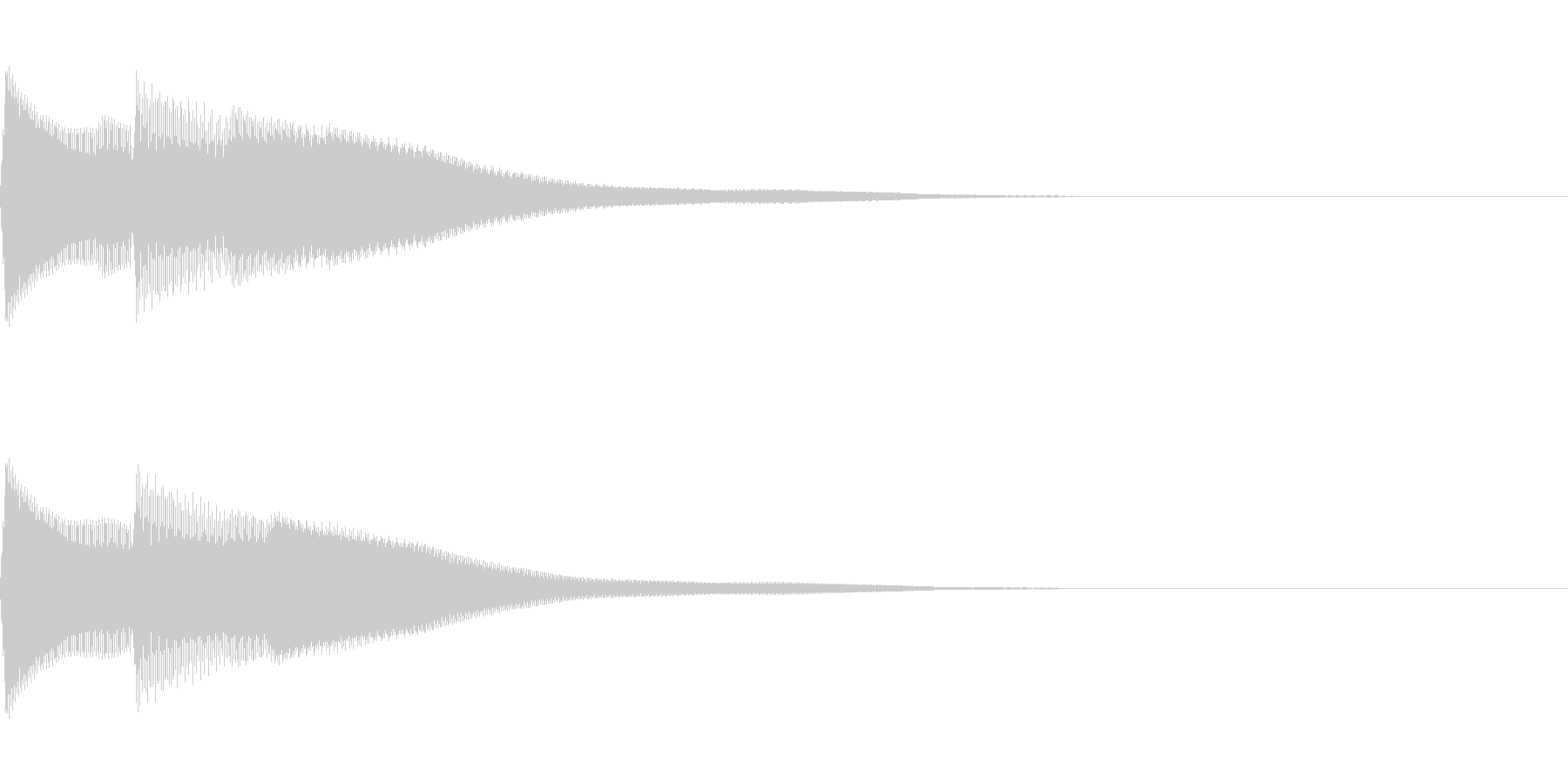 正解 1D 控え目な音 ピポンの未再生の波形