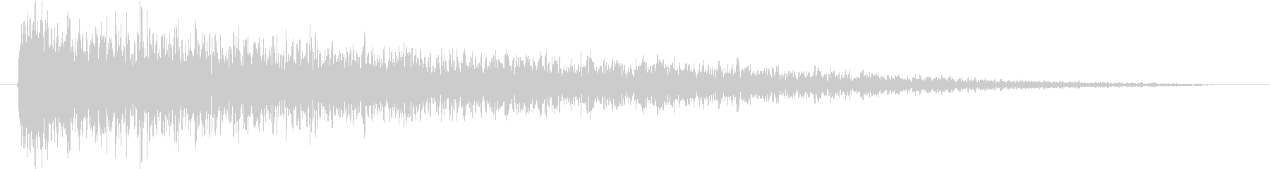 インパクトのある音05の未再生の波形