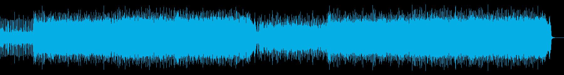 車レース映像、エキサイティングなロックAの再生済みの波形