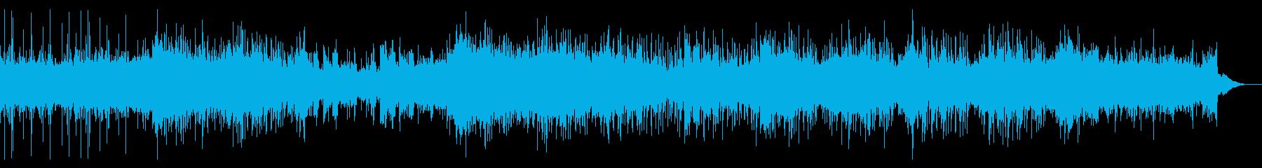 薄暗いシネマスケープの再生済みの波形