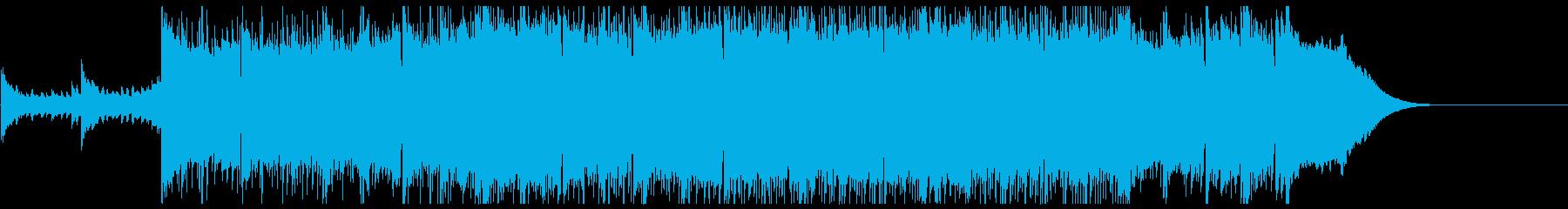 優しいピアノのスローテクノの再生済みの波形