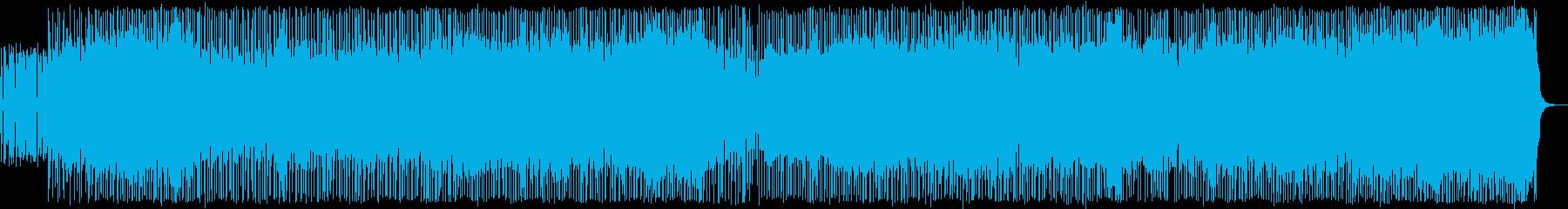 明るくスピード感のあるポップスの再生済みの波形