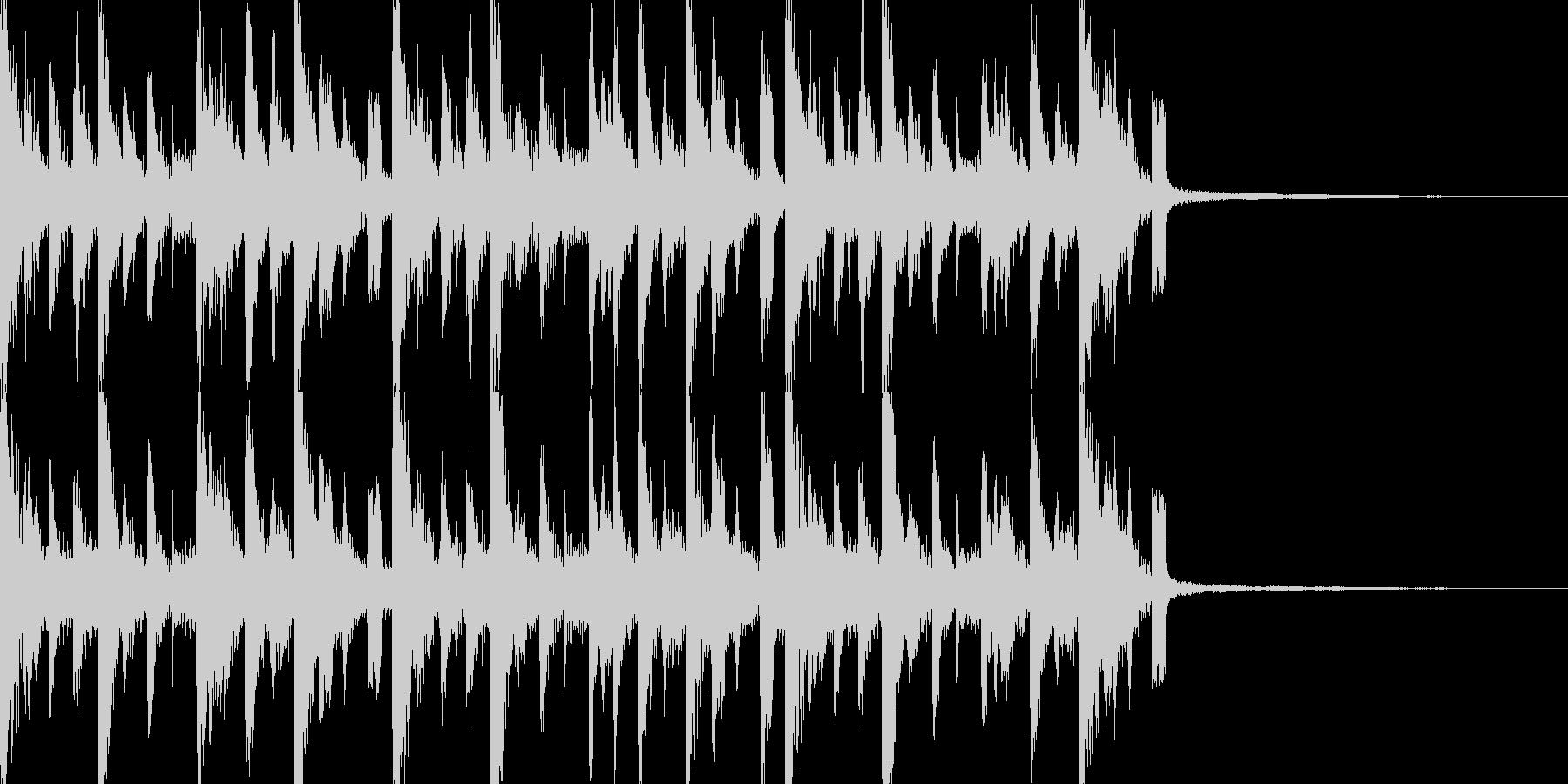 さあ始まる集まってピアノドラムジングルの未再生の波形