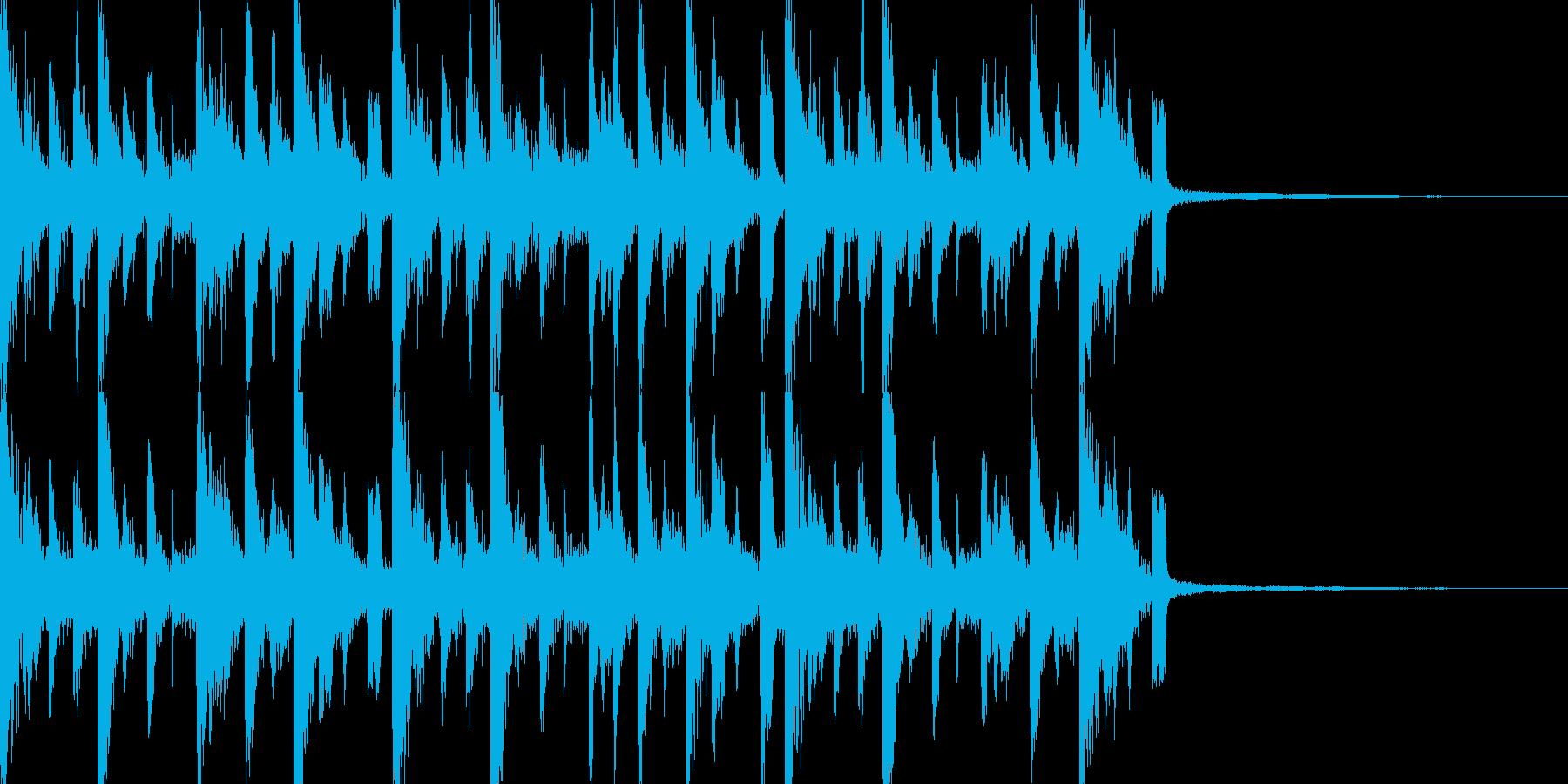 さあ始まる集まってピアノドラムジングルの再生済みの波形