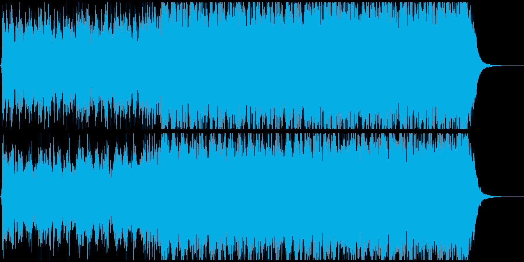 パワフルで壮大な映画予告編(トレーラ)風の再生済みの波形