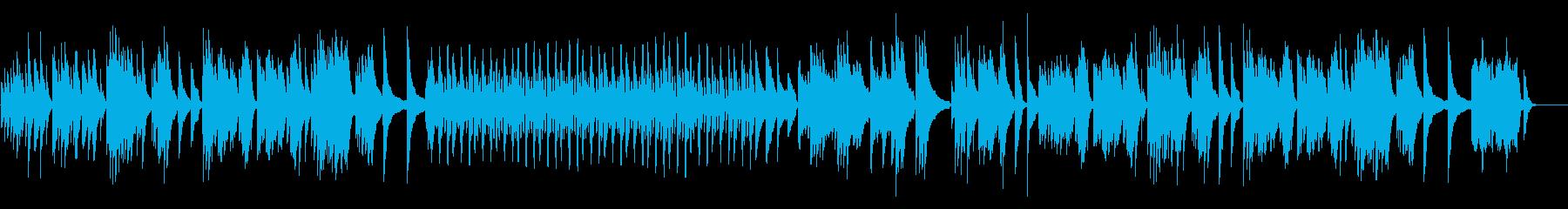 切ない・感動・心に響くピアノBGMの再生済みの波形