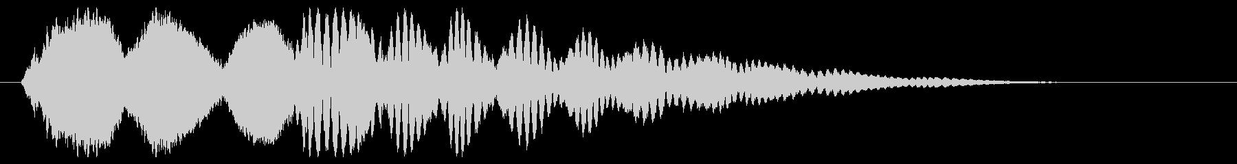 小鳥が元気にさえずる効果音の未再生の波形