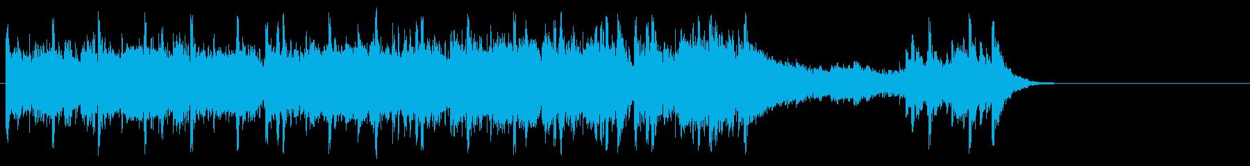 軽快なフュージョン(サビ~エンディング)の再生済みの波形