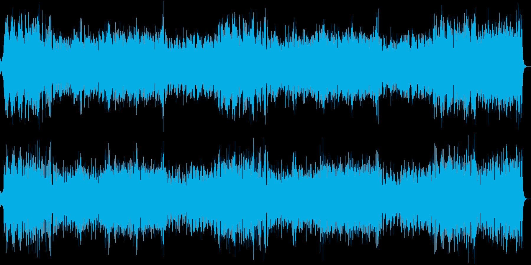 輝かしく華やかな式典向け管弦楽曲の再生済みの波形