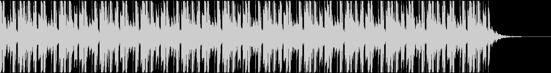 ハイテンポな電子ジャズっぽいBGMの未再生の波形