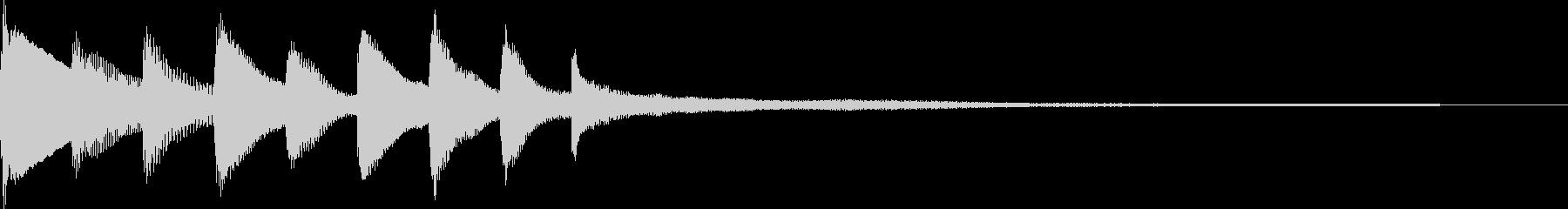 和風ピアノジングルの未再生の波形