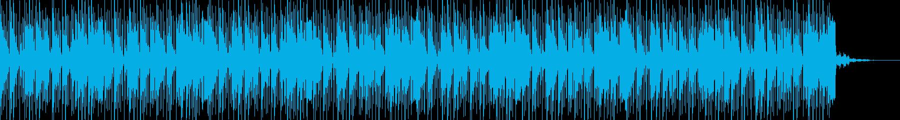 疾走感のある近未来的ビートの再生済みの波形