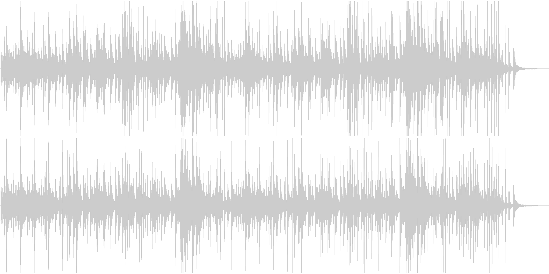 ピアノBGMしっとり大人のジャズバラードの未再生の波形