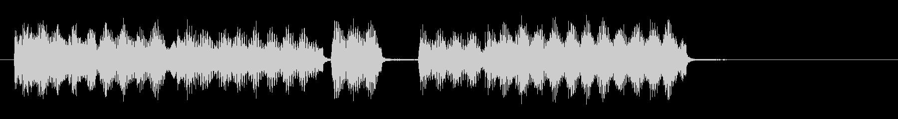 オルガンでブルースを弾いたジングルの未再生の波形
