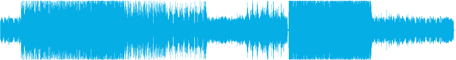 クールな和風テイスト4つ打ちエレクトロの再生済みの波形
