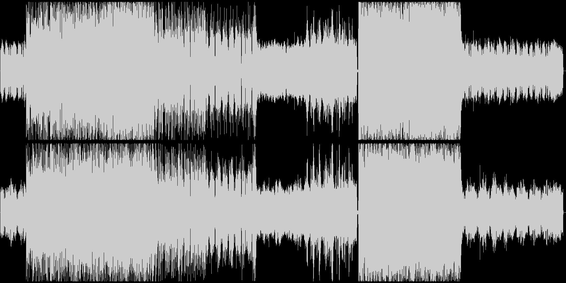 クールな和風テイスト4つ打ちエレクトロの未再生の波形