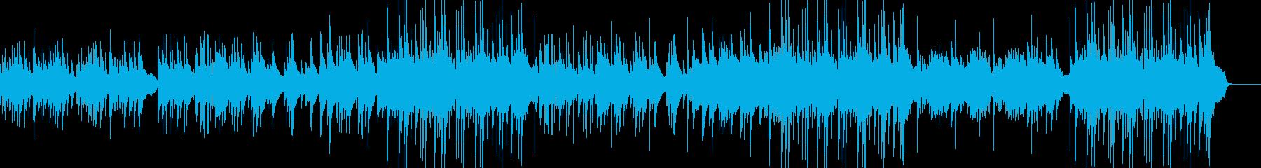 ゆっくり落ち着いたハープの音色が美しい曲の再生済みの波形