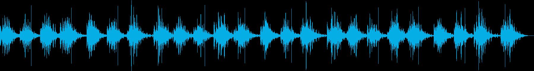 脳の活性化を促すヒーリングミュージックの再生済みの波形