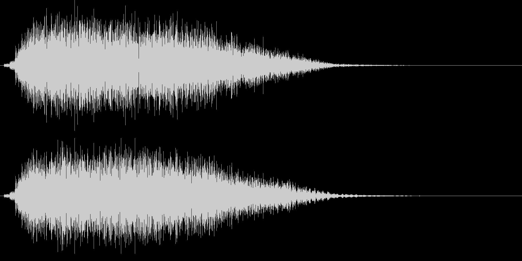 ドヨ~ン...。めまいでふらつく音(低)の未再生の波形
