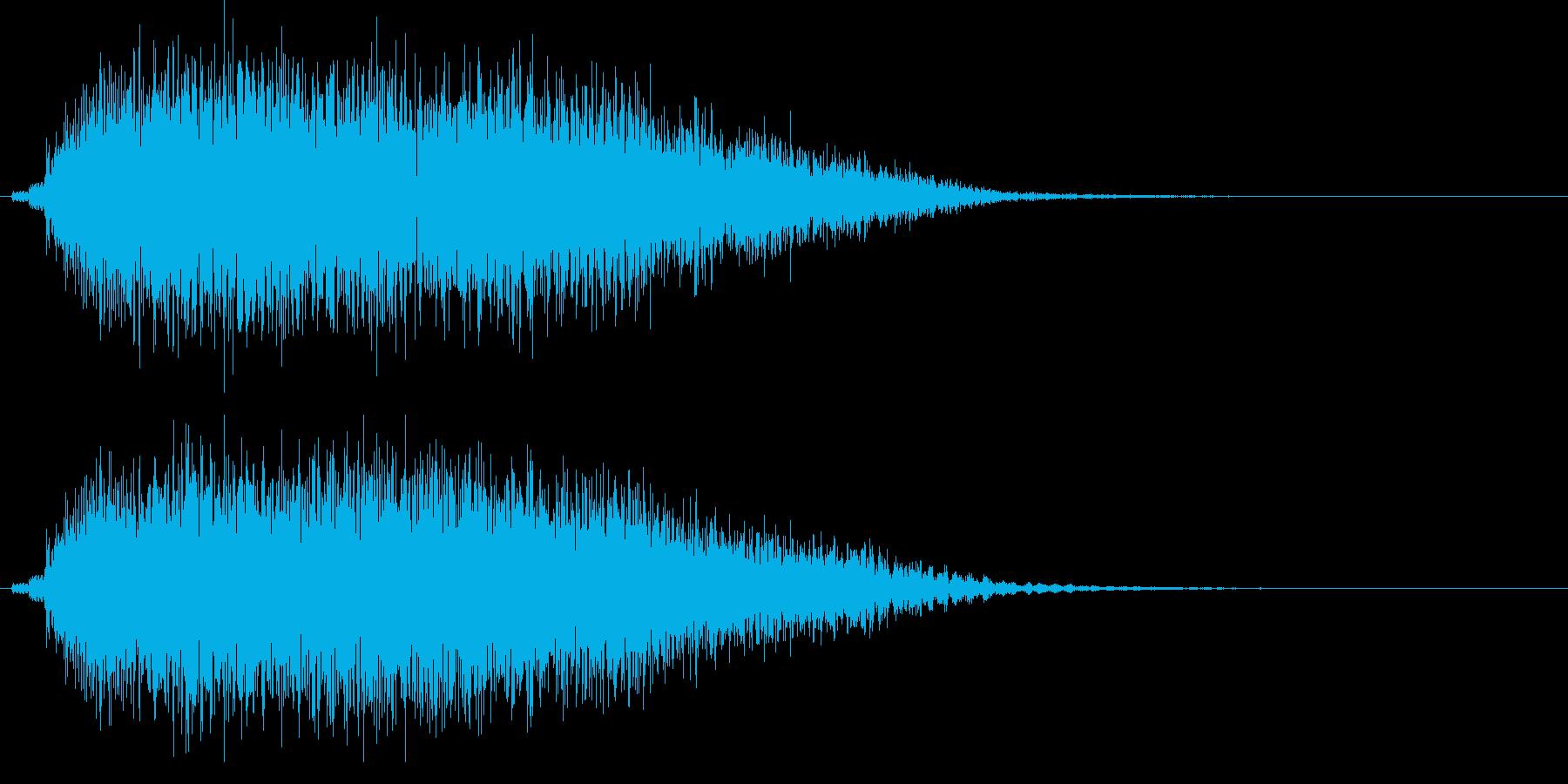 ドヨ~ン...。めまいでふらつく音(低)の再生済みの波形