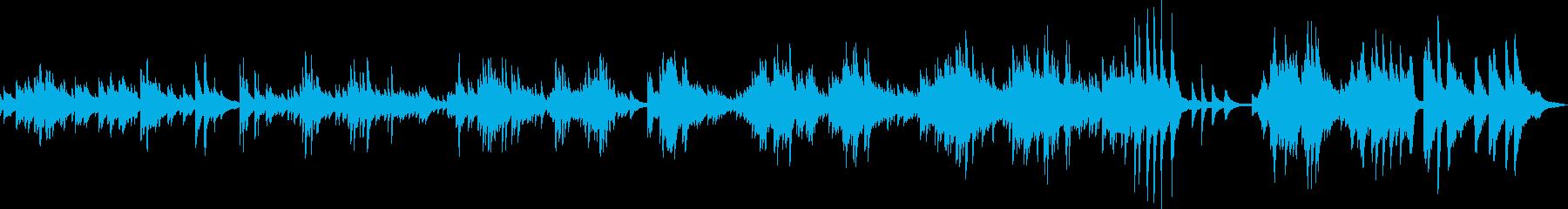 優しくて切ないピアノバラード曲の再生済みの波形