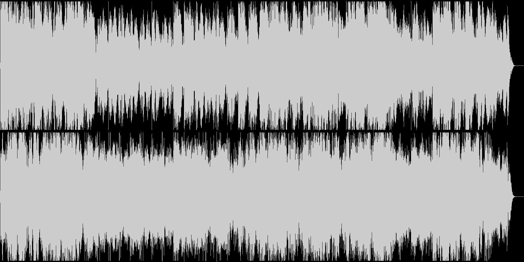 穏やかで神秘的、幻想的なヒーリング曲の未再生の波形