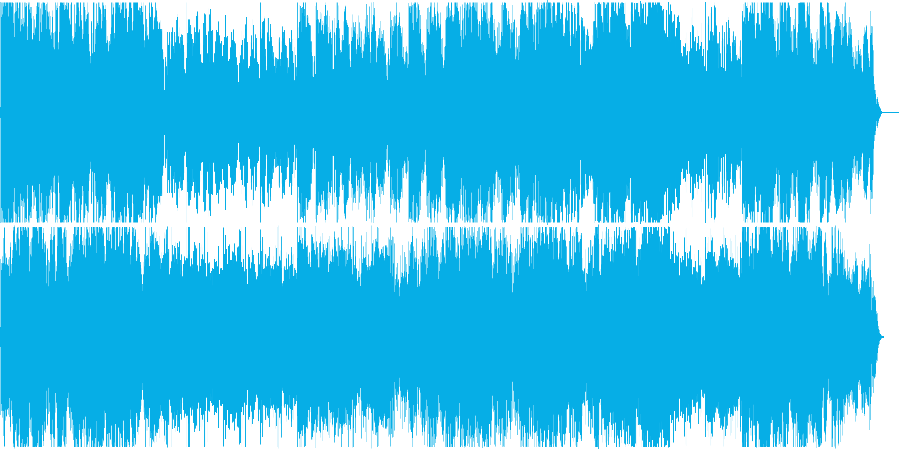 穏やかで神秘的、幻想的なヒーリング曲の再生済みの波形
