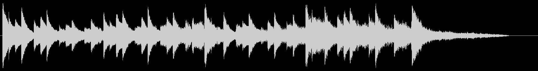 CM30秒、映像に合う穏やかなピアノの未再生の波形