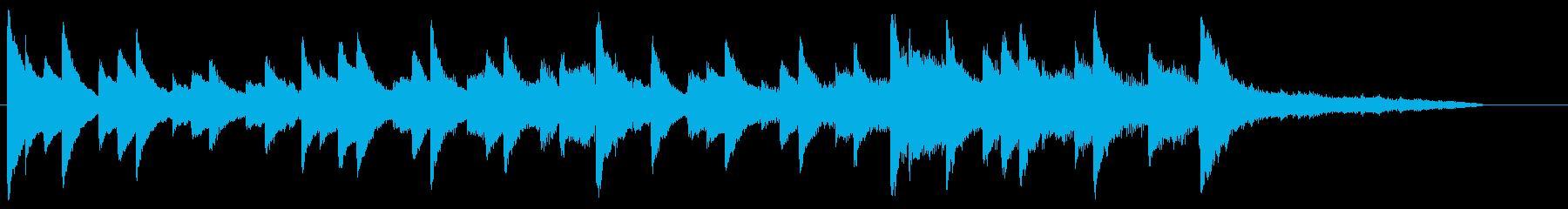 CM30秒、映像に合う穏やかなピアノの再生済みの波形
